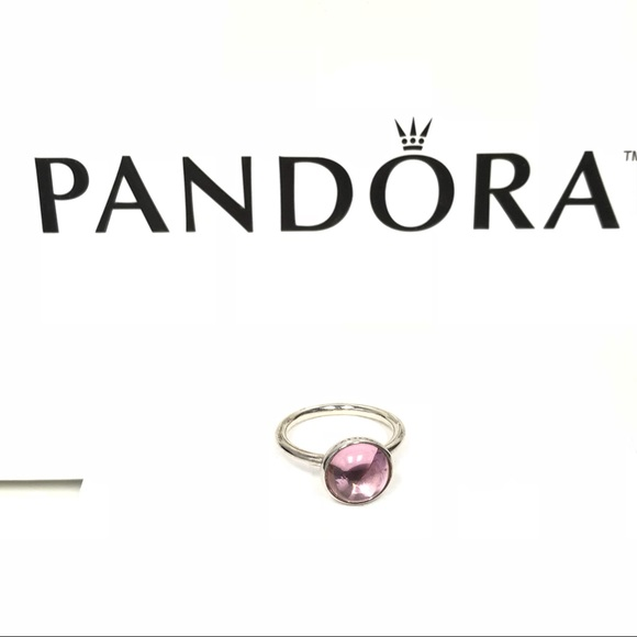 e0bcfa5b192db 100% Authentic Pandora Poetic Droplet Ring Pink